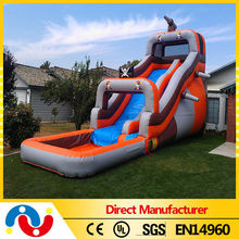 top quality exciting 0.55-0.9mm pvc tarpaulin inflatable water slides china wholesale