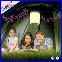 LED rechargable camping lantern with bluetooth speaker color changing and touch sensor mini music lamp