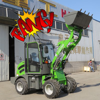 Shanghai Bauma fair popular HZM 908 articulated mini/small wheel loader for sale with Rops/fops