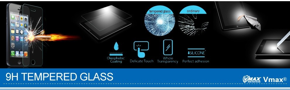 High Quality 0.33mm 9h hardness tempered glass screen protector,color screen protector machine with best Japanese glass