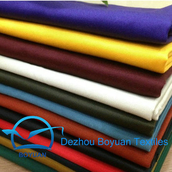 Poly cotton uniforms and workwear fabric