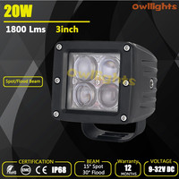 Wholesale guangzhou auto 20w car led tuning light , 20w 4D Reflector car led work light , 3inch 20w LED work light for trucks