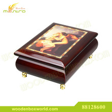 Artistic Wooden Boxes for Jewellery with Oil Painting Design