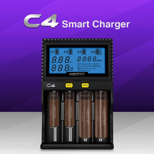 Multifunction battery charger 4-slot compatible with A AA AAA 18650 26650 32650 Li-ion IMR INR ICR LiFePO4 and Ni-Cd Ni-MH
