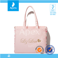 rose printed reusable tote shopping bags