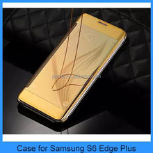 New Clear View Smart Touch Flip Mirror Case For Samsung S6 Edge Plus