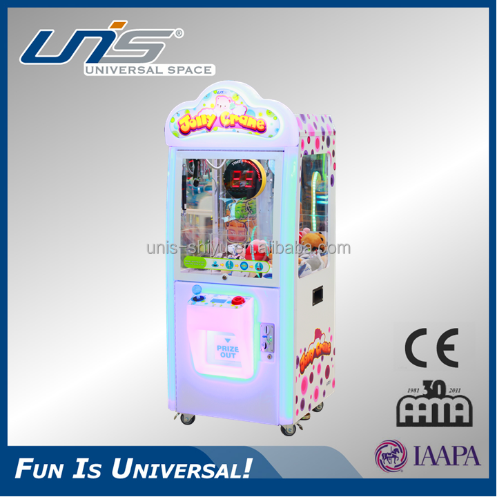 UNIS hot in malls coin operated arcade claw machine for sale