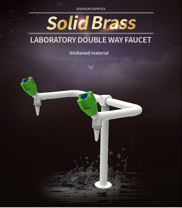 2201Solid Brass 2 Way Laboratory furniture sink faucet with PP Knob
