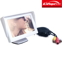 Newest 4.3 inch AHD truck lcd dual car monitor factory price 24V