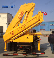auto hydra 10 ton knuckle boom truck mounted crane for sale in india