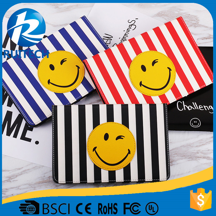 cute smile cover case for ipad 2/3/4/5, case for Ipad Air 2