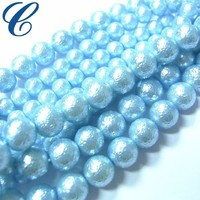 Multicolor Wrinkle Pearl Blue Pearl for Necklace Making