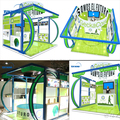 Detian Offer 20ft Customized exhibition display stall design from Shanghai
