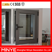Inward swing sound proof with picture window aluminum casement window