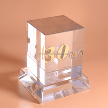 Chinese Personalized Achievement Crystal Trophy In Folk Crafts PJYRC-039