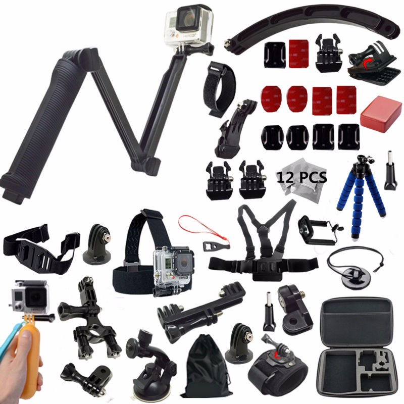 Amazing Functional Gopro Accessories kit for Action Camera Sports Camera Gopro hero 5 Xiaomi yi 4k SJCAM Action camera