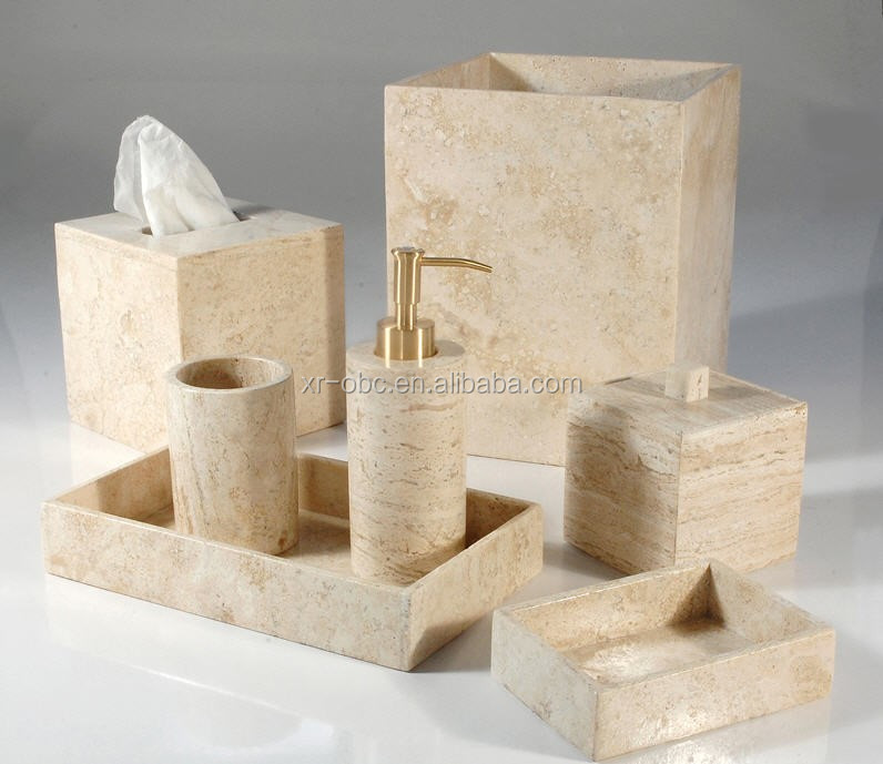 Beige travertine marble soap lotion dispenser buy beige - Bathroom soap and lotion dispenser set ...