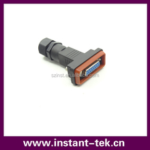 INST 9pin female d-sub connector/DB9 waterproof connector