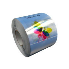 Self Adhesive Inkjet Silver PET Film Rolls for high grade labels