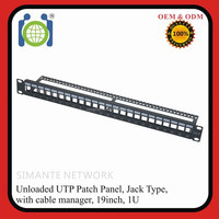 network blank cat 6 utp 24-port patch panel