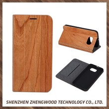 Hot-selling real wood phone case cell phone accessory wood flip covers for Samsung