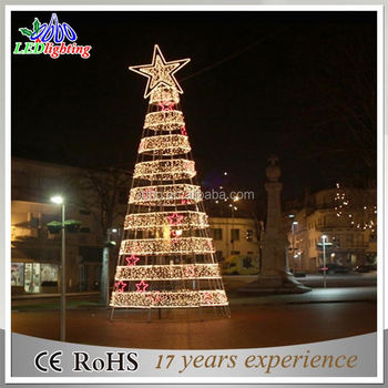 Outdoor unique artificial led spiral christmas decorations trees