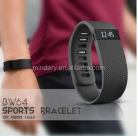 TW64 sports bluetooth smart bracelet,pedometer health band ,smart bracelet TW64 bluetooth bracelet with vibration sms