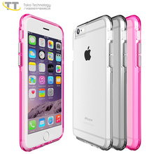 High-quality tpu pc transparant clean slim case for iphone 6