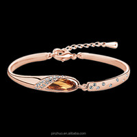 Newly design saudi gold jewelry,crystal jewelry fashion bracelet 2015