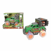 Hot popular surprise dinosaur toys car friction car with light music