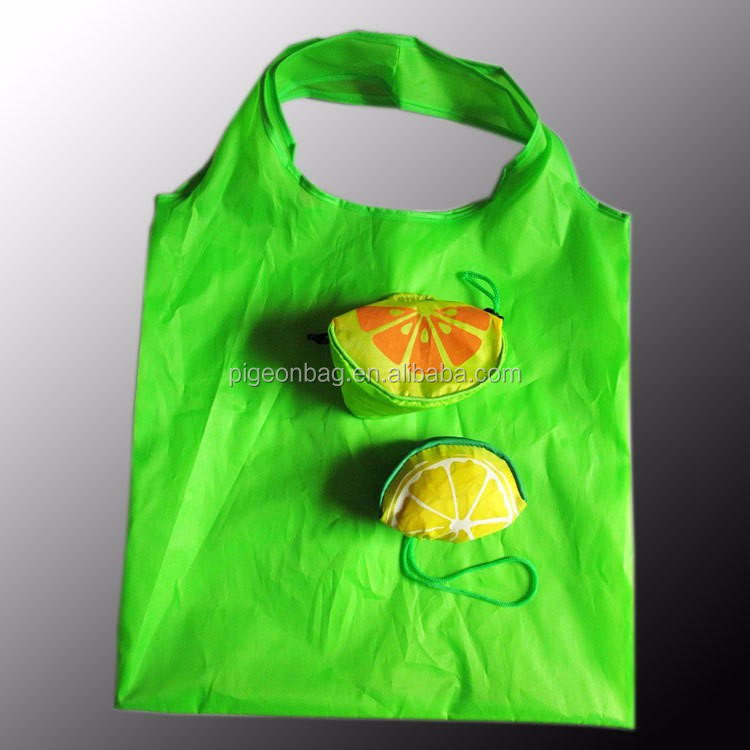 promotion wholesale fruit shopping bag cheap rolling forable folding shopping bag with carrying hadle