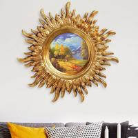 Garden Wall Art Sun Sculpture Home Patio Decor Accent Decoration Hanging