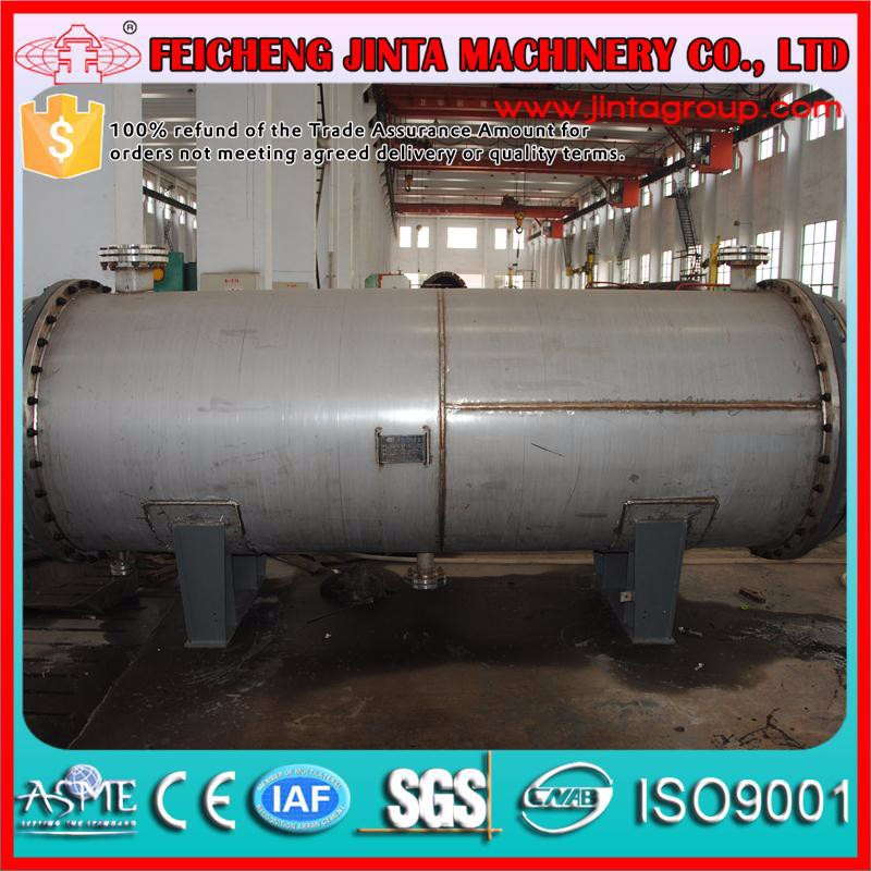 ASME standard tubular condenser, stainless steel condenser used in chemical/oil/power industry