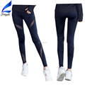 Black Mesh Yoga Tights Athletic Pants for Women