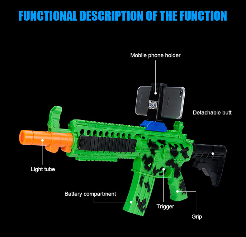 2017 Mobile phone controlled app smart game toy AR gun