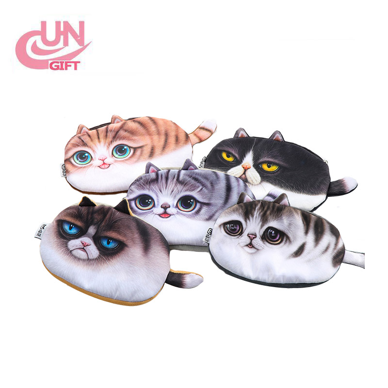 Imitation Cat Face Students Lovely Creative Stationery Bag Wholesale