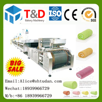 Hot sale--T&D Complete Full Automatic Swiss Roll Machine for food industry Famouse bakery machine factory china