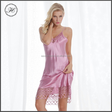 Summer Silk Pajamas Ladies Sexy Open Style Nighty