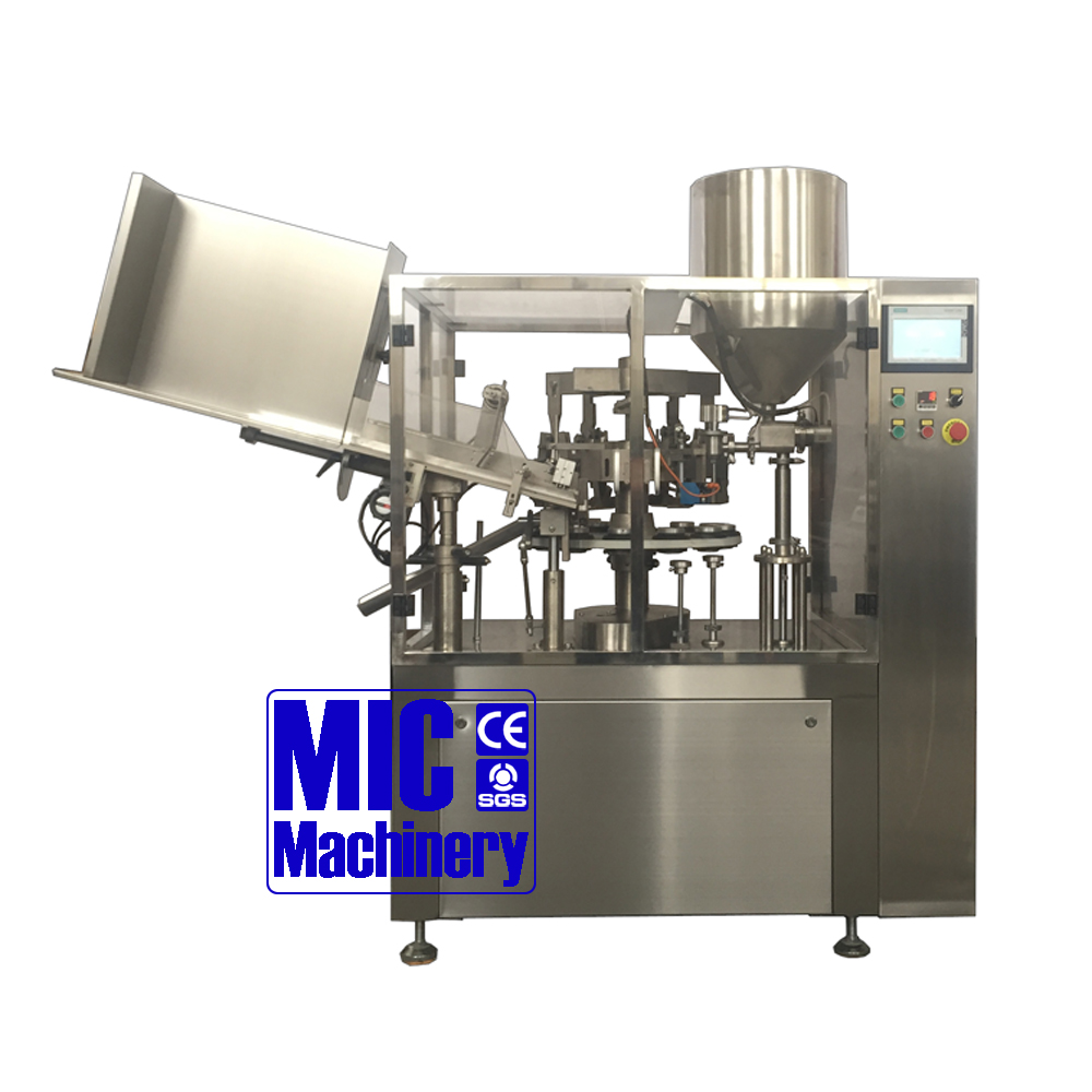 MIC-L60 automatic aluminum tube filling and crimping machine for ointment and cosmetic cream