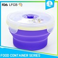 Eco-friendly silicone material food storage container with lids