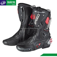 leather motorcycle shoes motorbike racing boots used for mens