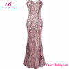 Women dresses party long pink shining elegant evening dress 2016
