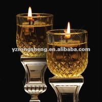clear oil glass or candle holder