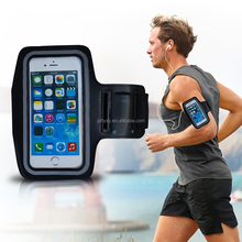 Factory Customize Unisex universal 6 inch Waterproof with reflective circle touchable screen PU phone case running armband