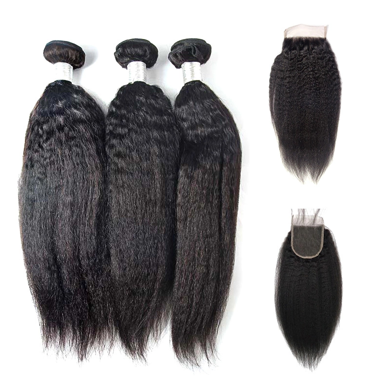 Raw brazilian virgin hair vendor wholesale human hair unprocessed virgin brazilian cuticle aligned hair with lace closure