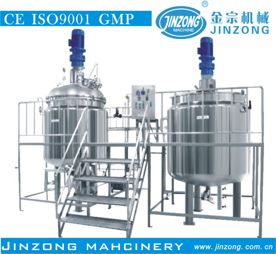 Jinzong Machinery detergent homogeneous mixer 2000l liquid detergent mixing tank