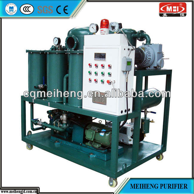 China MEIHENG Super Stronge Vacuum Transformer Oil Purifier Machine For Transformer On Line