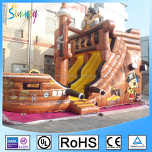 Giant Pirate Ship Model Slide Inflatable Pirate Boat Water Slide