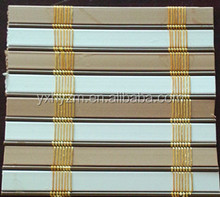 printed window roll up bamboo blind