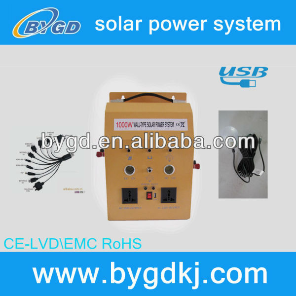 home use portable renewable energy of the soalr system
